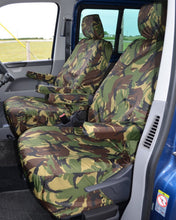 Load image into Gallery viewer, VW Transporter T6 with Green Camo Seat Covers