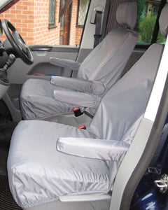 VW Transporter T6 with Grey Front Seat Covers