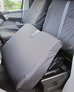 VW Transporter Dual Passenger Seat Cover - Black