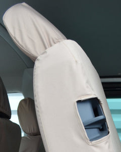 VW Transporter Kombi T6 Easy Entry Seat Covers in Cream