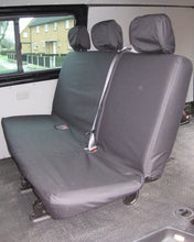 Load image into Gallery viewer, VW Transporter Kombi T6 Seat Covers 2nd Row Bench in Black