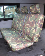Load image into Gallery viewer, VW Transporter Kombi T6 Seat Covers 2nd Row Bench - Green Camo