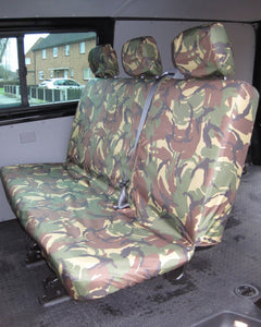VW Transporter Kombi T6 Seat Covers 2nd Row Bench - Green Camo