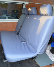 Load image into Gallery viewer, VW Transporter Kombi T6 Seat Covers 2nd Row Bench in Grey