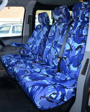 Load image into Gallery viewer, VW Transporter Tailored Seat Covers - Blue Camo
