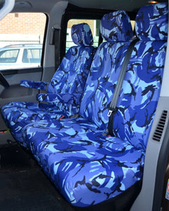 VW Transporter Tailored Seat Covers - Blue Camo