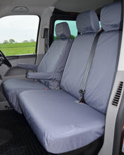 Load image into Gallery viewer, VW Transporter T5 Tailored Grey Passenger Seat Covers