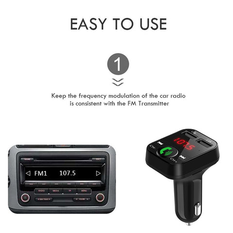 Hands-Free Car Kit Audio and Transmitter