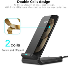 Wireless Charger Stand For iPhone Samsung
