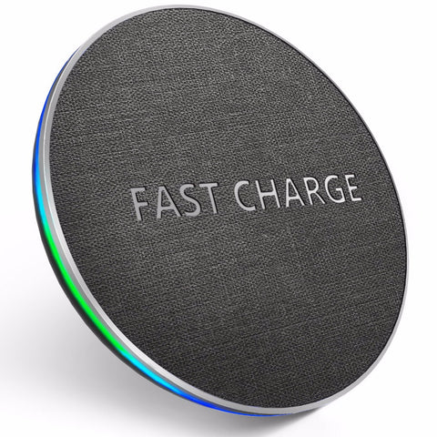 Fast Wireless Charger For iPhone Samsung Round