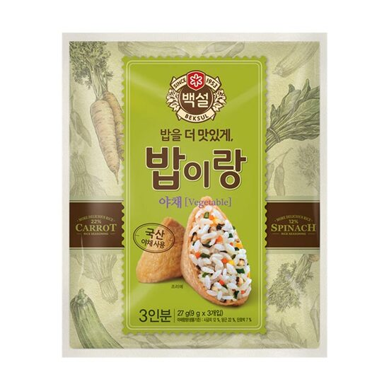 백설 밥이랑 야채 / CJ Beksul Rice Seasonning Mix Vegetable 27g