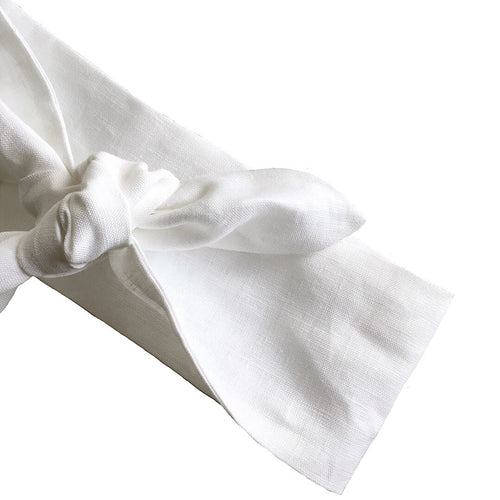 White Linen Head Scarf