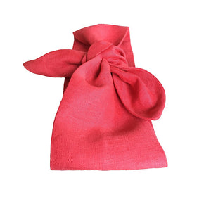Regal Red Linen Head Scarf