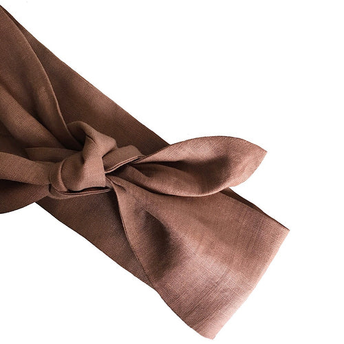 LINEN HEAD SCARF 'WALNUT'