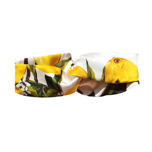 SILK TWIST HEADBAND  'LEMONADE'