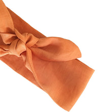 Burnt Orange Linen Head Scarf