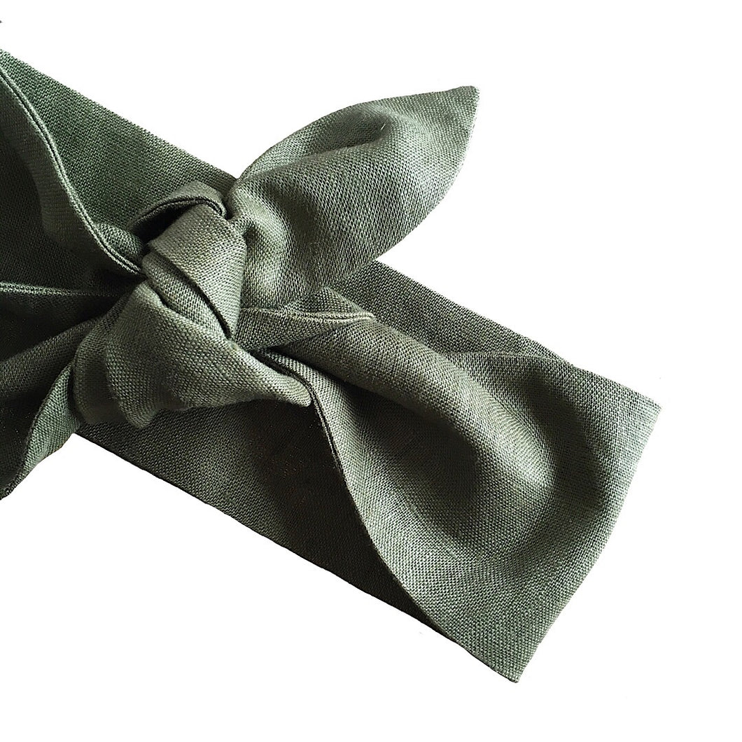 Forest Linen Head Scarf