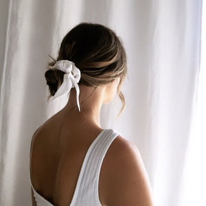 SILK BUN WRAP 'BRIGHT WHITE'