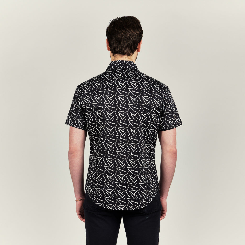 SHORT SLEEVE WRENCH PRINT SHIRT - CRWTH