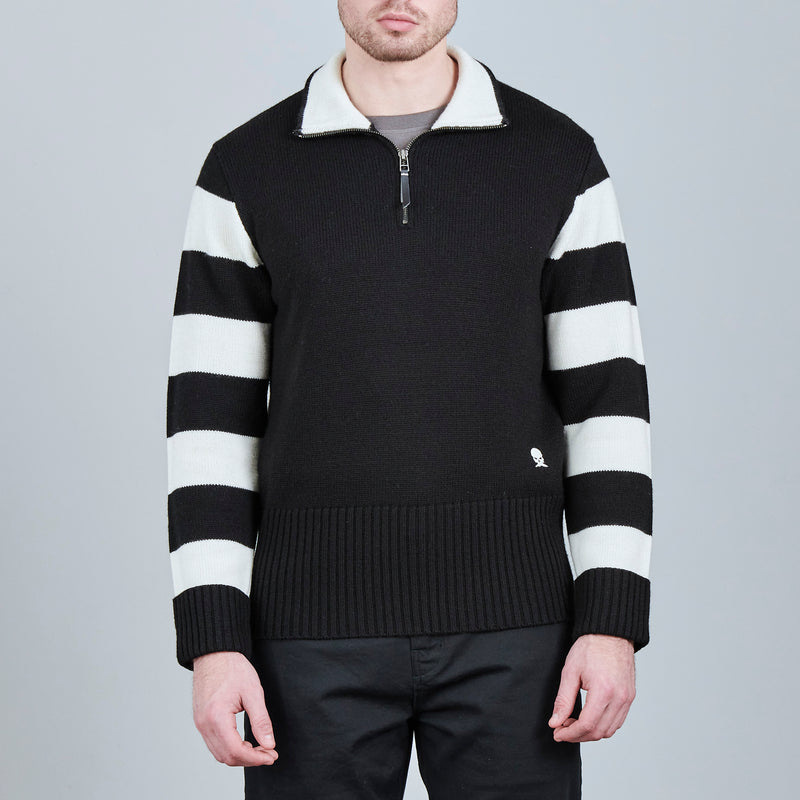 STRIPED SLEEVE HILL CLIMBER SWEATER
