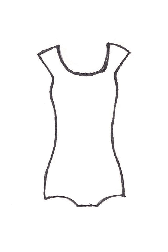 Stay eco on trend with an organic cotton hemp cap sleeve leotard body suit in black and off white. Slow fashion made in Canada and naturally breathable for the ultimate comfort.