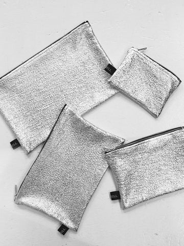 GY'BELL Pochette – Zip Bag Silver