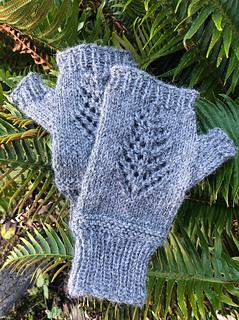 Lace Tree Wrist Warmer Knitting Pattern