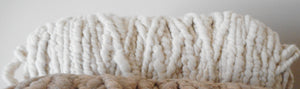 Light Fawn White Rug Core Yarn Alpaca Prairie Spirit Alpacas