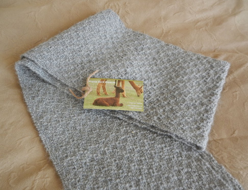 100% Canadian Alpaca Handwoven Scarves. Pure Alpaca wool scarves are luxurious, soft, lightweight and warmer than regular wool. Our Alpacas are Canadian raised in the Alberta Foothills.