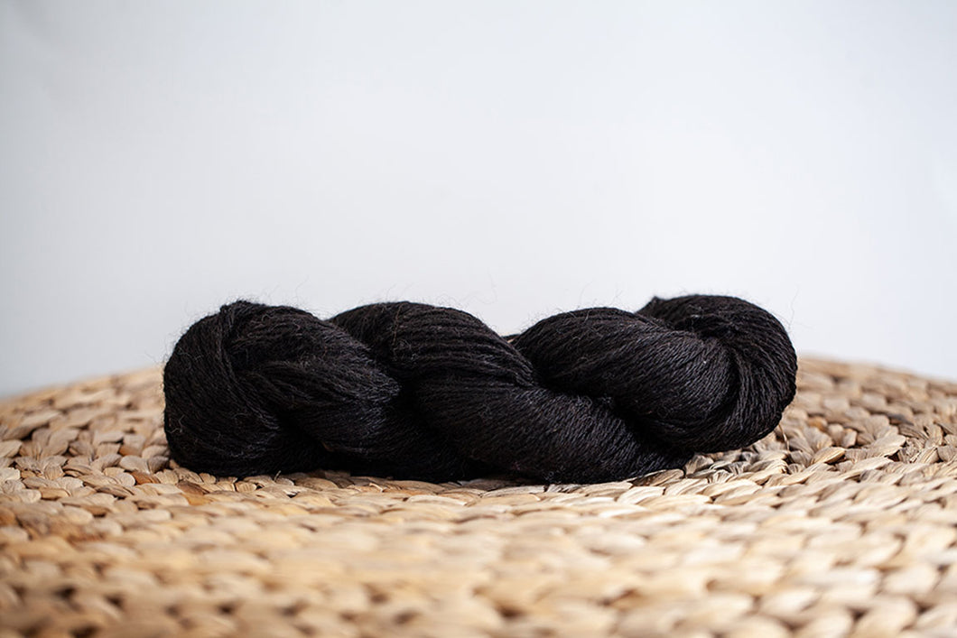 Black Princess Sport Weight Alpaca Yarn Neutral Collection Prairie Spirit Alpacas