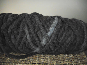 Tricolor Grey Rug Core Yarn Alpaca Prairie Spirit AlpacasCream Rug Core Yarn Alpaca Prairie Spirit Alpacas