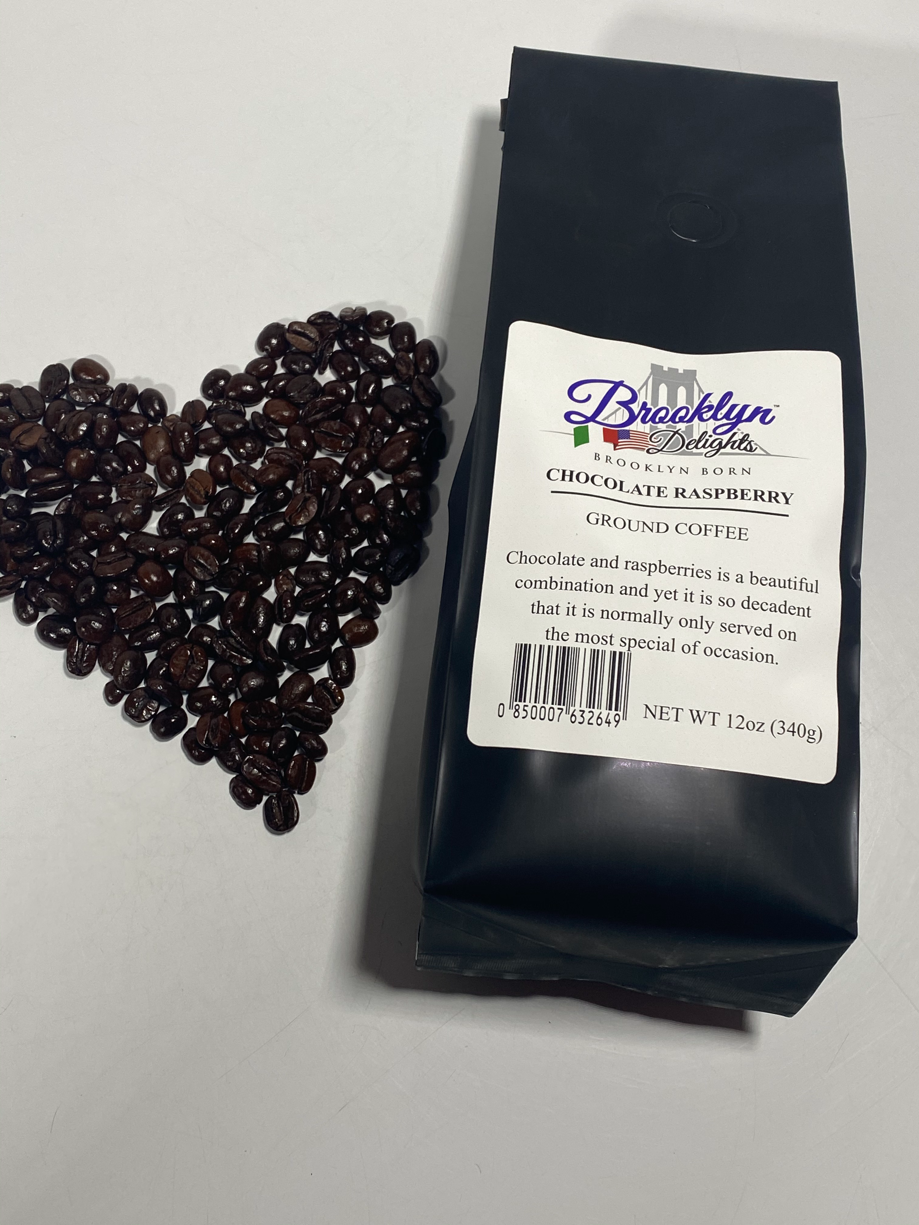 Coffee 12 oz gourmet chocolate raspberry
