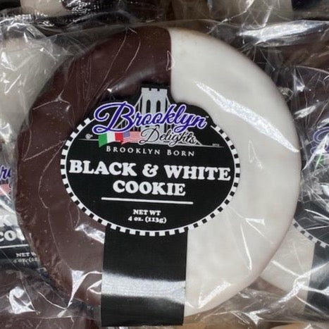 Black & White Cookie -  4 oz ------We now have a 6 count or 12 count size.