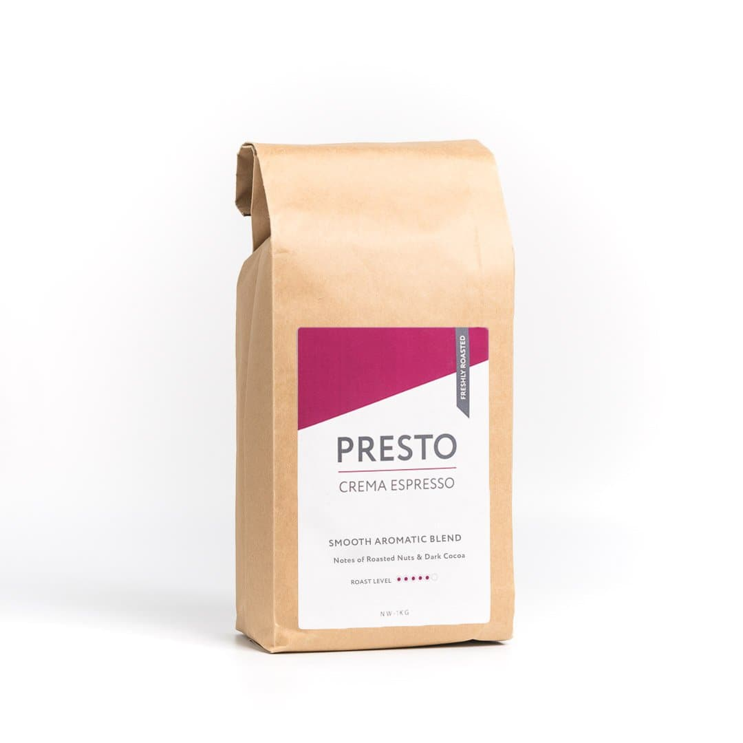 Presto Coffee Beans – Cafè Crema -  Timeout- Medium/Dark - 1KG