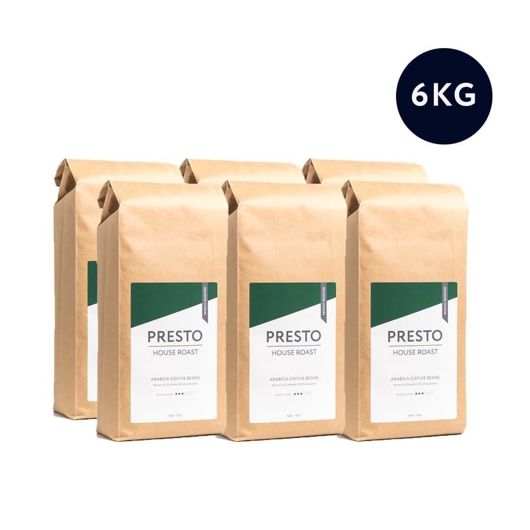 Presto House Brazilian Blend Bulk Coffee Beans (6 x 1kg)