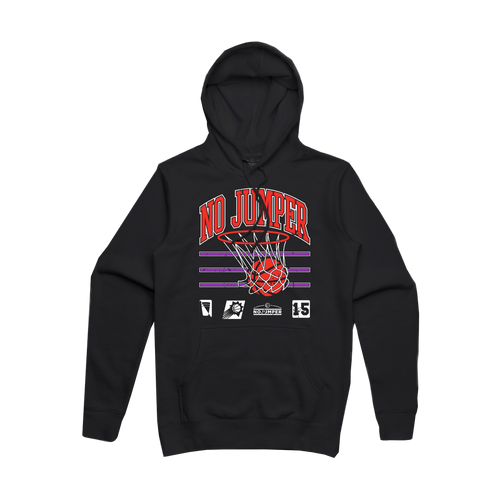 NO JUMPER SWISH HOODIE - BLACK