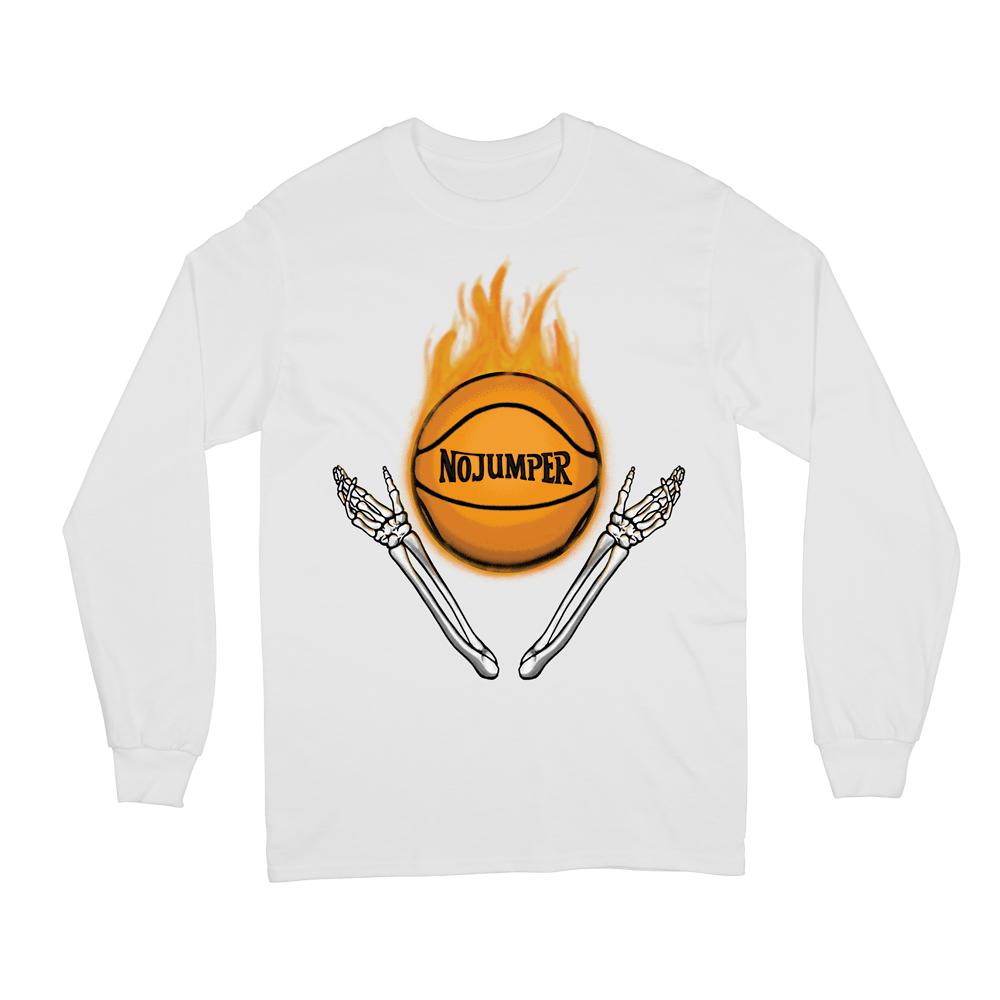 HOT FIRE L/S TEE - WHITE