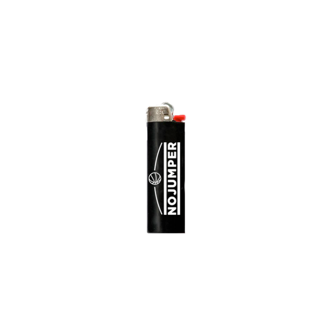 NO JUMPER LOGO LIGHTER - BLACK