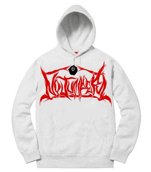 NO JUMPER x SECTION 8 WHITE HOODIE (NO SPIKE)