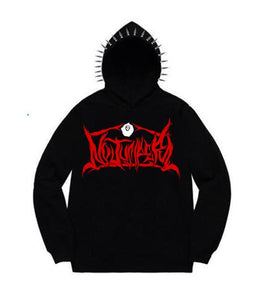NO JUMPER x SECTION 8 BLACK SPIKE HOODIE