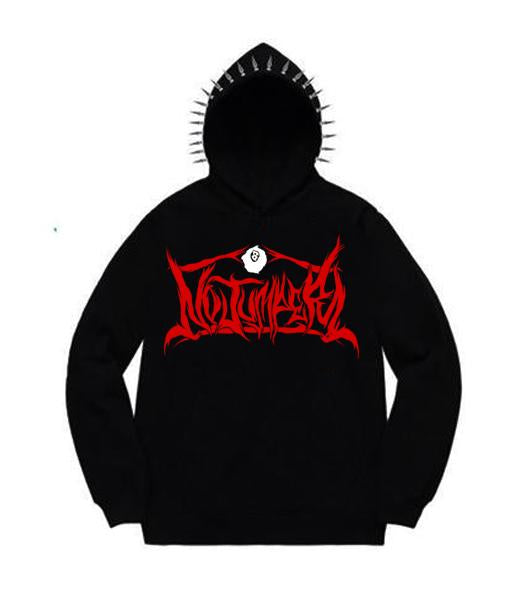 214548d6 NO JUMPER x SECTION 8 BLACK SPIKE HOODIE