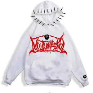 NO JUMPER x SECTION 8 WHITE SPIKE HOODIE