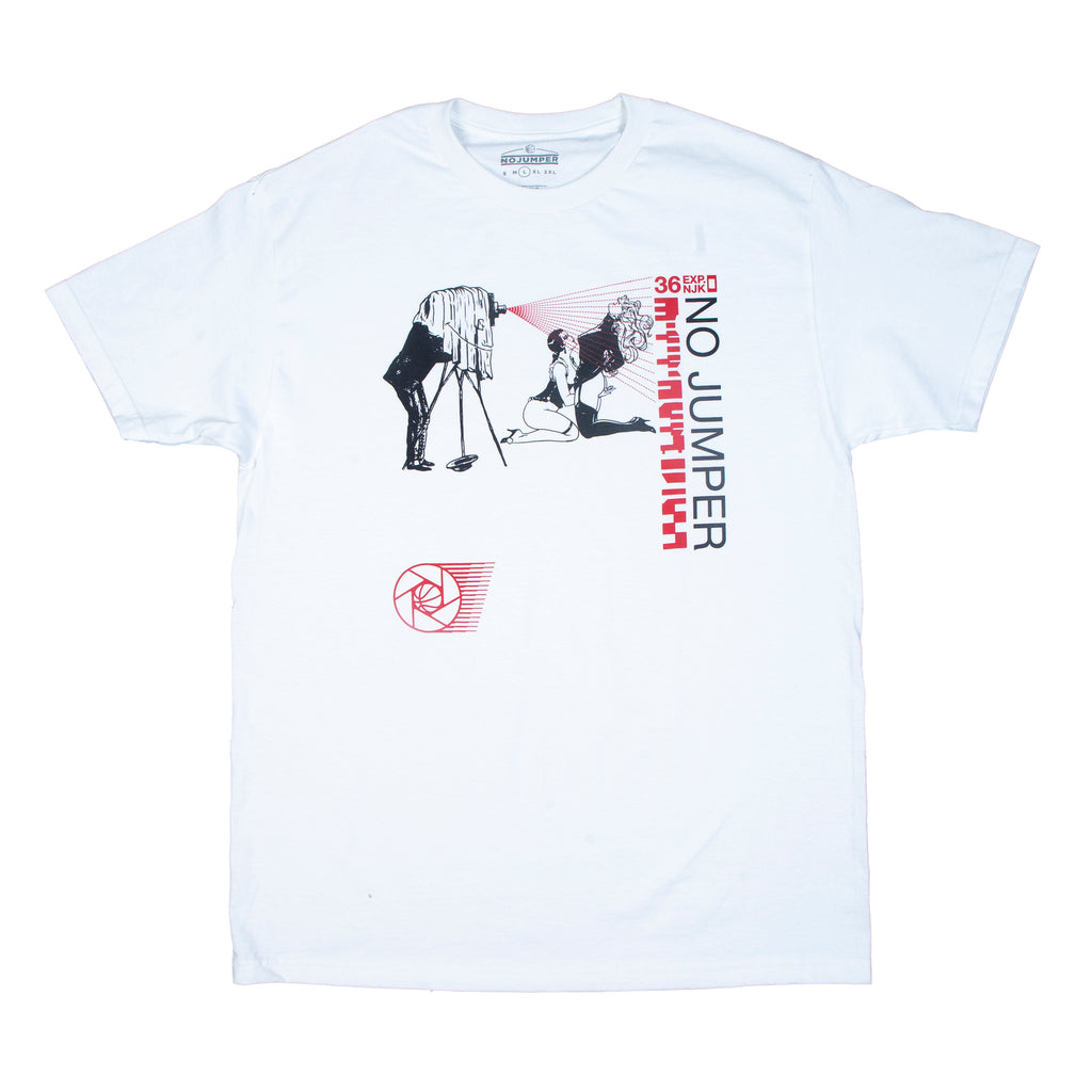 NJK OVER-EXPOSED TEE - WHITE