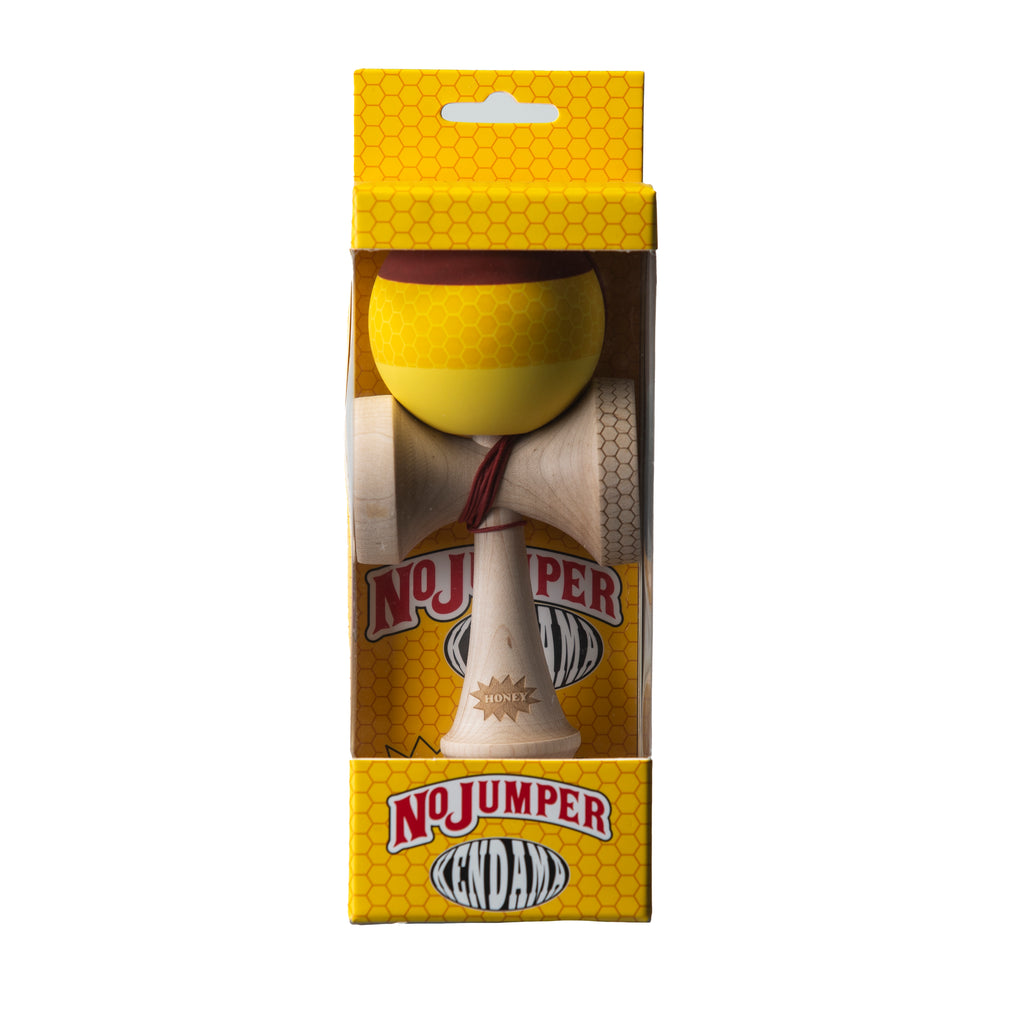 HONEY WOOD KENDAMA - RUBBER