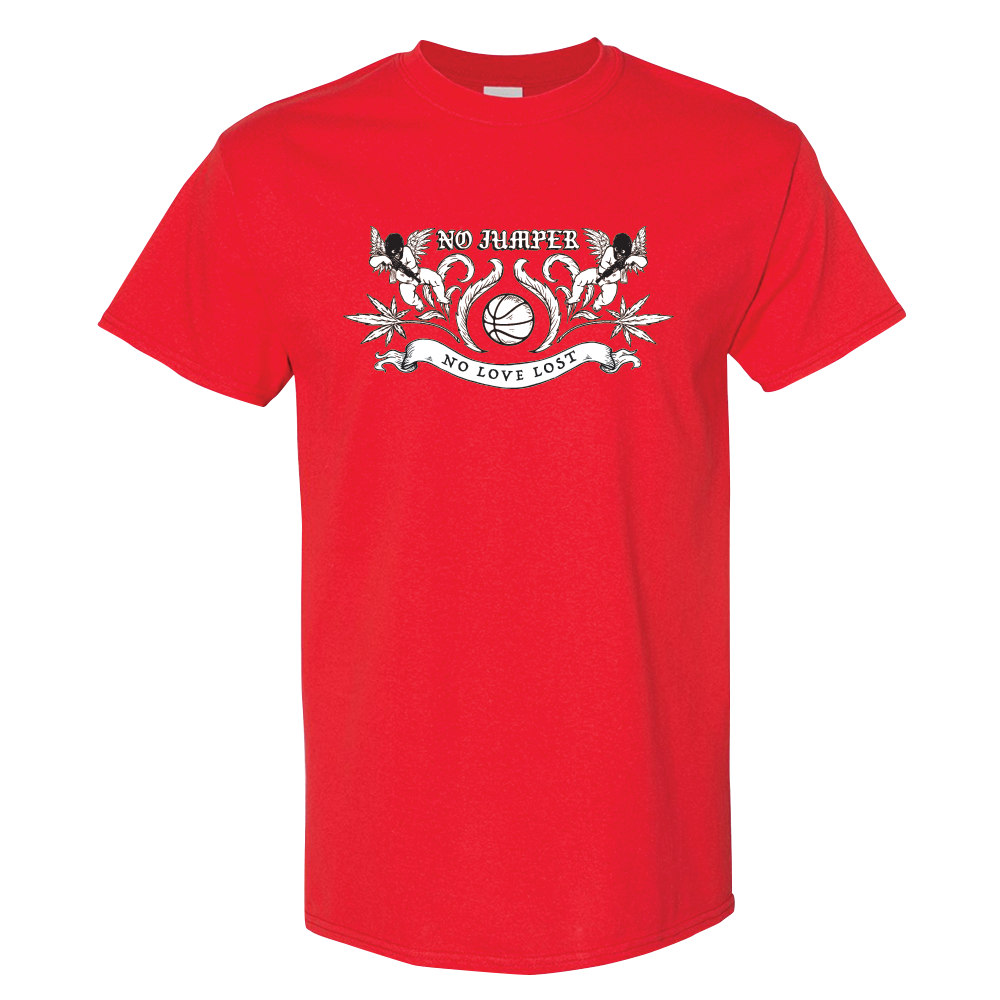 NO LOVE LOST CREST TEE - RED