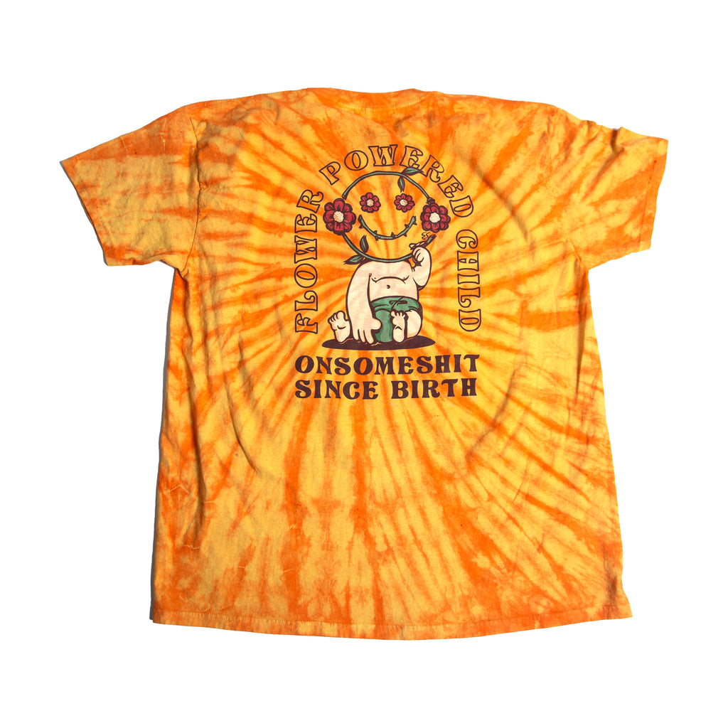 OSS - FLOWER CHILD tee - orange tie-dye