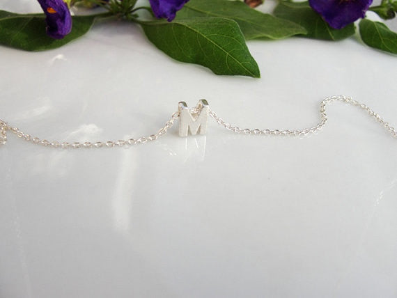 Initial Letter Charm Necklace