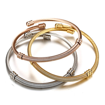 Triple Twisted Cable Wire Bracelet Set
