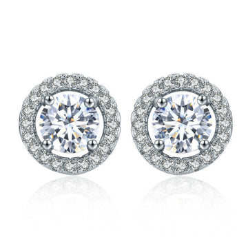 Round Sparkle Stud Earrings
