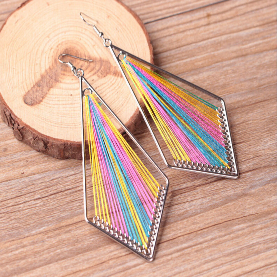 Geometric Bohemian Dangle Earrings